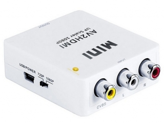 Конвертер аналогового сигнала из 3RCA(female) в цифровой HDMI(female)